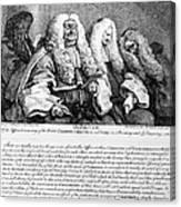 Hogarth: Judges, 1758 Canvas Print