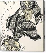 Hokusai: Setsubun, 1816 Canvas Print