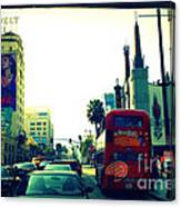Hollywood Boulevard In La Canvas Print