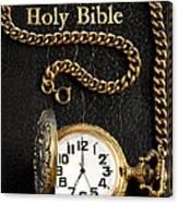 Holy Bible Pocket Watch 1 Canvas Print