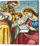 Holy Family At Catholic Church Canvas Print