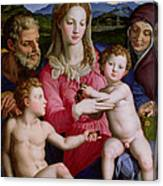 Holy Family With St Anne And The Infant St John The Baptist Canvas Print