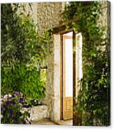 Home Entrance And Courtyard Canvas Print