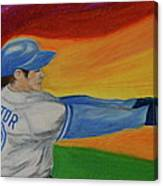 Home Run Swing Baseball Batter Canvas Print