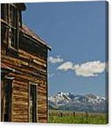 Homestead View Of The Crazy's Canvas Print