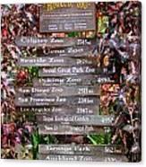 Honolulu Zoo Signs Canvas Print