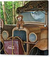 Hood Ornament Disney Bear Canvas Print