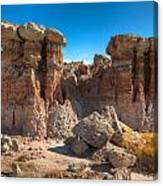 Hoodoos At Gooseberry Desert Wyoming Canvas Print