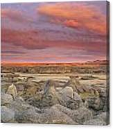 Hoodoos, Milk River Badlands, Writing Canvas Print