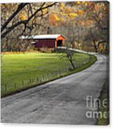 Hoosier Autumn - D007843a Canvas Print