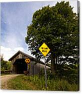 Hopkins Covered Bridge Canvas Print