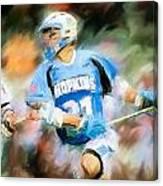 College Lacrosse Midfielder Canvas Print