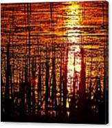 Horicon Marsh Sunset Wisconsin Canvas Print