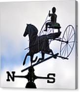 Horse And Buggy Weather Vane Canvas Print
