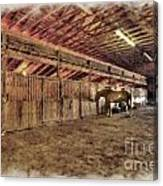 Horse Barn Barbour County Canvas Print
