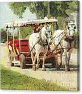 Horse Carriage Mackinac Island Michigan Canvas Print
