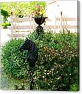 Horse Hitching Post 2 Canvas Print