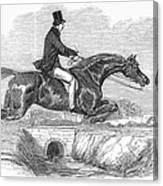 Horse-jumping, 1852 Canvas Print