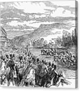 Horse Racing, 1850 Canvas Print