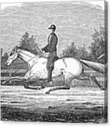 Horse Racing, 1851 Canvas Print
