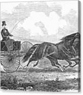 Horse Racing, 1862 Canvas Print