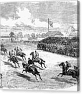 Horse Racing, 1870 Canvas Print