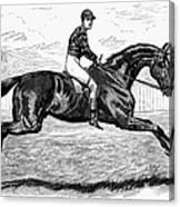Horse Racing, 1880s Canvas Print