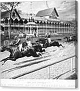 Horse Racing, 1889 Canvas Print