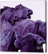 Horse Sculptures Canvas Print