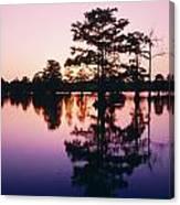 Horseshoe Lake At Dusk Canvas Print