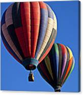 Hot Air Ballons Floating High Canvas Print