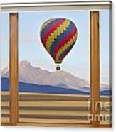 Hot Air Balloon Colorado Wood Picture Window Frame Photo Art Vie Canvas Print