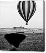 Hot Air Balloon Shadows Canvas Print