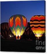 Hot Air Balloons At Dusk Canvas Print