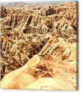 Badlands Of South Dakota Canvas Print