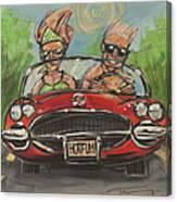 Hot Fun Corvette Canvas Print