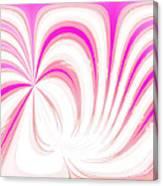 Hot Pink Swirls Canvas Print