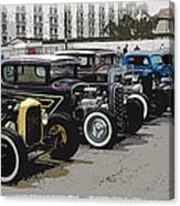 Hot Rod Row Canvas Print