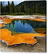 Hot Springs Yellowstone Canvas Print