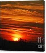 Hot Summer Night Sunset Canvas Print