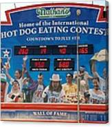 Hotdog Eating Contest Time Canvas Print