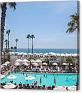 Hotel Del Coronado Pool  Canvas Print