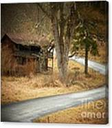 House On A Curve Canvas Print