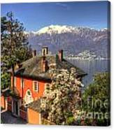 House On The Lake Front Canvas Print