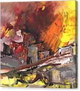 Houses In Fire Canvas Print