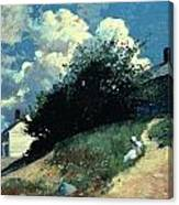 Houses On A Hill Canvas Print
