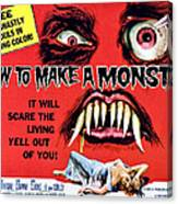 How To Make A Monster, Half-sheet Canvas Print