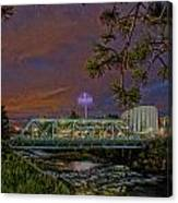 Howard St Bridge Pavillion Imax Canvas Print