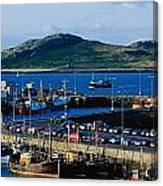 Howth Harbour & Irelands Eye, Co Canvas Print