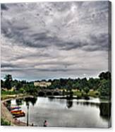 Hoyt Lake Delaware Park 0003 Canvas Print